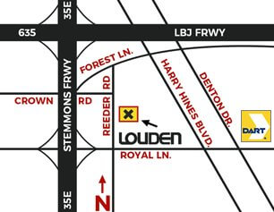Louden Motorcar Services Map