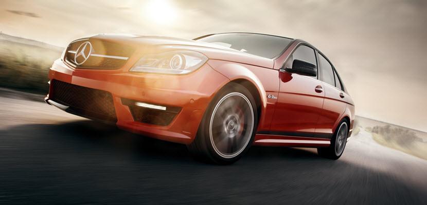 Red Mercedes Sport Car
