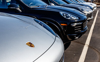 Porsche Cars in a Row